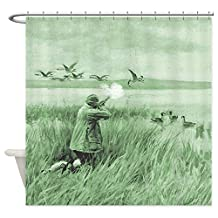 CafePress - Hunting Wild Geese - Decorative Fabric Shower Curtain