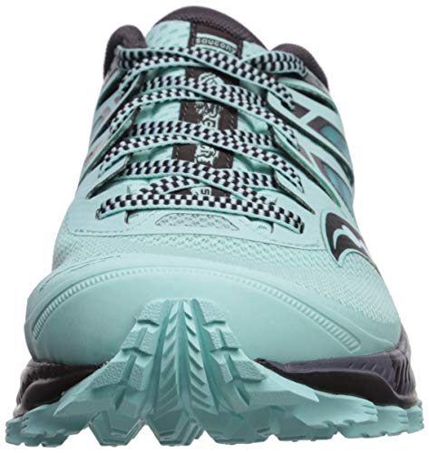 Saucony Women's Peregrine ISO Trail Running Shoe, Aqua/Grey, 6.5 M US by Saucony (Image #4)