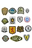 WHOLESALE Iron-on patches/badges/appliques/emblems for garments / jeans / tshirts (10 packets of these 15 designs shown)