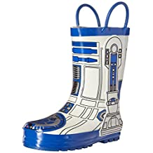 Western Chief Kids Western Chief Star Wars R2D2 Rain Boots, White, 4 M US Big Kid