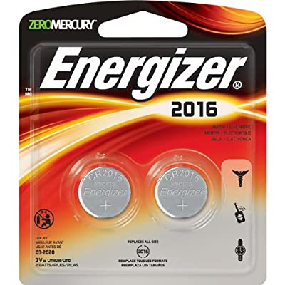 5 X Energizer 2016 3V Lithium Button Cell Battery Retail Pack - 2-Pack
