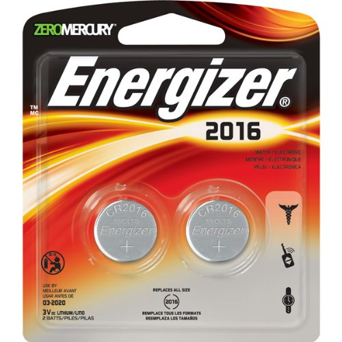 Energizer Genuine 3V Lithium Button Cell Battery Retail Pack - 2-Pack (Energizer 2016bp 2 Lithium Button)