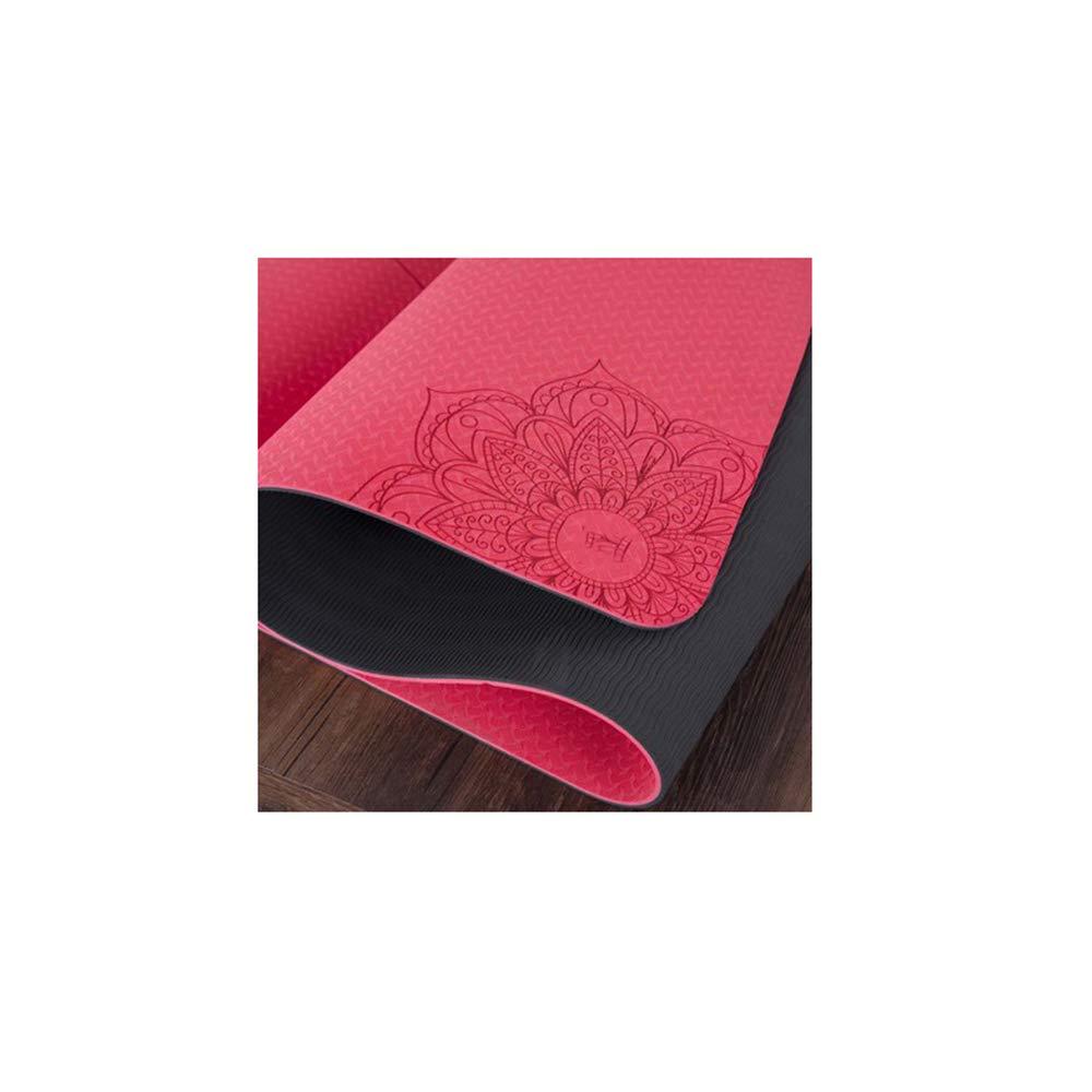 Amazon.com: LSJDYU Yoga mat 6mm Fitness mat Fitness Yoga ...