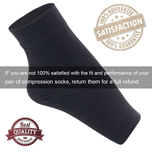 Ailaka Medical 20-30 mmHg Plantar Fasciitis Socks for Men & Women, Heel Arch Ankle Support Compression Foot Sleeves, Great Foot Care for Pain Relief, Swelling, Nurses, Maternity, Pregnancy, Running by Ailaka (Image #5)