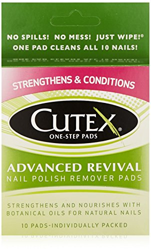 Acetone Non Polish Remover Cutex (Cutex Nail Polish Remover, Advanced Revival Pads, 10 Count)