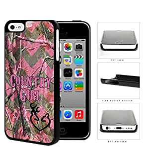 Country Girl Pink Chevron Camouflage Hard Snap-on Protective Case for iPhone 5c