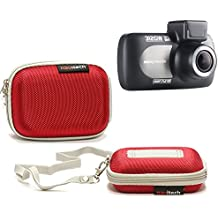 Navitech Red Water Resistant Hard Case Cover For TheNextbase 312GW Dash Cam