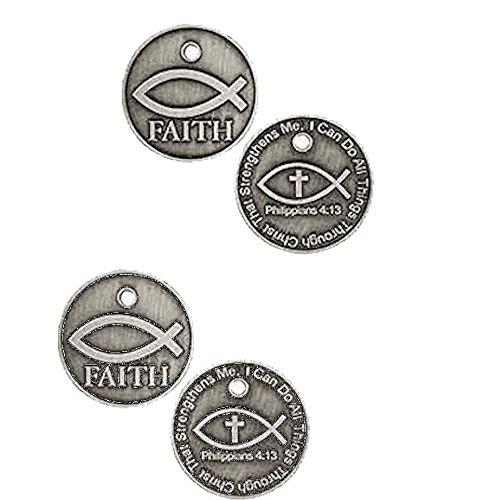 Pewter Coin Set (Coins - Faith Pocket Coins, Jesus Fish Pewter Set of 3)