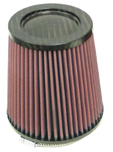 K&N RP-4740 Universal Clamp-On Air Filter: Round Tapered; 4.5 in (114 mm) Flange ID; 6 in (152 mm) Height; 5.875 in (149 mm) Base; 4.5 in (114 mm) Top