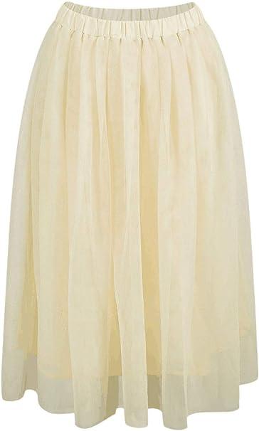 Falda Tul Mujer Verano Vintage Colores Moda Joven Sólidos Modernas ...