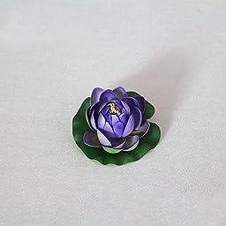 12pcs 10cm Artificial Colorfulife® EVA Lotus Floating Water Lily Mini Foam Flower Head Bud Pool Fish Tank Pond Home Garden Decoration