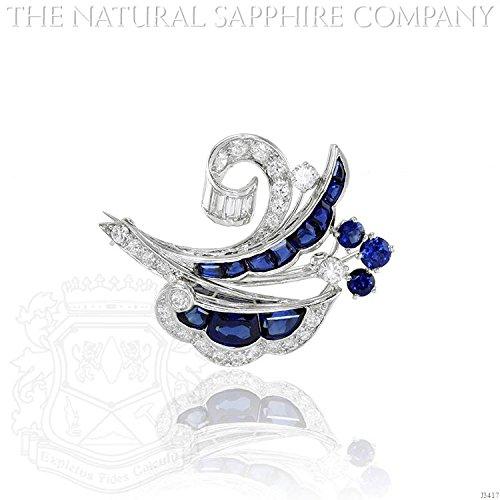 Diamond & Sapphire Brooch - 2