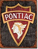 "CLASSIC ART/ARTWORK - Cars / Automobiles [1940] - ""Vintage Pontiac Logo"" - Vintage/ Antique Artwork/Sign Is Paint On Metal [TSFD]"