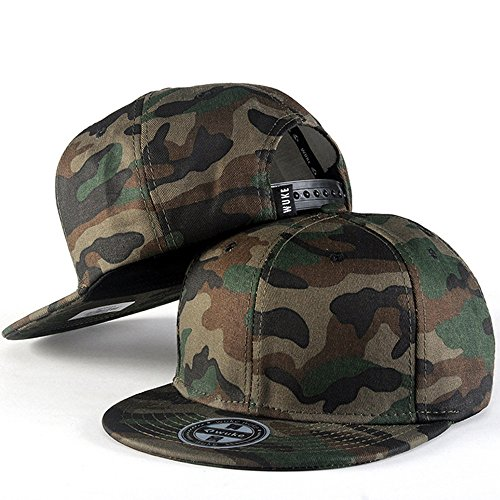 PLENTOP Men Women Baseball Camouflage Cap Snapback Hat Hip-Hop Adjustable (Camo Rare)