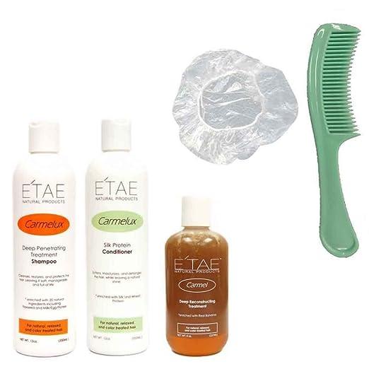 Etae Carmelux Shampoo Conditioner E'tae Carmel Treatment Natural Products Combo Kit (3 items)