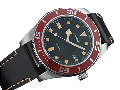 Parnis 43mm Mechanical Steel MIYOTA Automatic Sapphire Mens Bezel Watch 1231