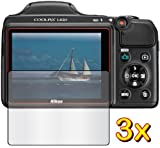 3x Nikon COOLPIX L820 Digital Camera Premium Clear LCD Screen Protector Cover Guard Shield Film Kits, Exact fit, NO CUTTING (3 pieces by GUARMOR)