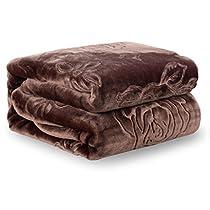 JML Plush Soft Raschel Blanket - King Size 76 x 91, Cloud Blanket, Lightweight, Embossed Solid Color Cozy Fleece Couch/Bed Blanket