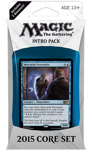 Magic the Gathering (MTG) 2015 Core Set / M15 Intro Pack / Theme Deck - Mercurial Pretender (Blue/Green)(Includes 2 Booster Packs) (Core Set Theme Deck)
