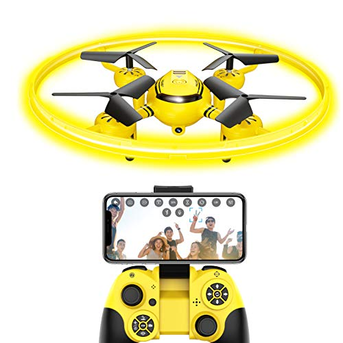 Q8 FPV Drone with HD Camera and Night Light,RC Drones for Kids Quadcopter with Altitude Hold and Gravity Sensor,Gift…