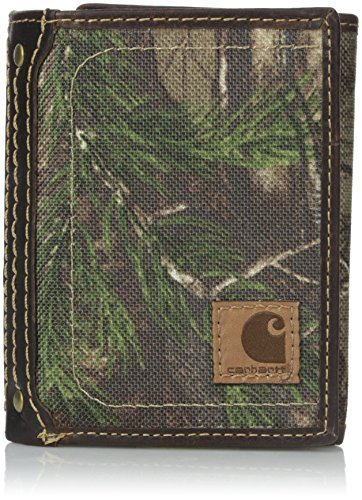 Carhartt Men's Trifold Wallet, Realtree, One -