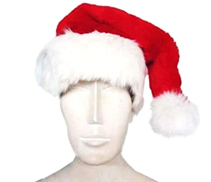0cb2d48e6df32 Image Unavailable. Image not available for. Color  Red Rex Rabbit and White  Fox Fur SANTA HAT Men Women HO!