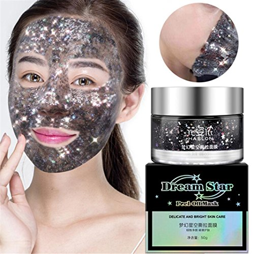 Camo Remover Off Makeup (Yeefant Tearing Moisturizing Cleaning Nourishing Brightening Facial Face Care Genuine Moisture Peel Off Star Mask Sheet DIY Natural Spa Skin Care Cosmetics for Women Adult)