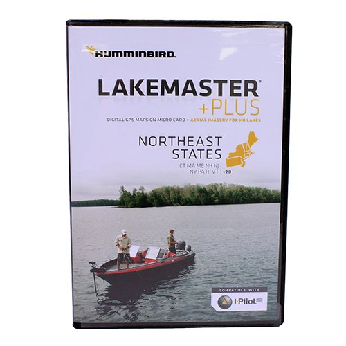 Humminbird LakeMaster Plus Northeast Edition Digital GPS Lake and Aerial Maps, Micro SD Card, Version 2 by Humminbird