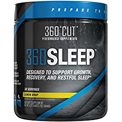 360SLEEP Valerian Root Sleep Aid for Restful, Restorative, Natural Sleep w/ Valerian Root, GABA, Melatonin, 5-HTP & More - No Morning Grogginess, Fast-Acting Powder, Lemon Drop - 30 Doses 6.77 ounce