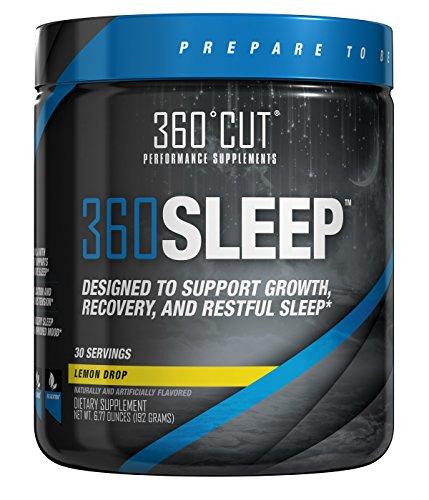 360SLEEP Valerian Root Sleep Aid for Restful, Restorative, Natural Sleep w/Valerian Root, GABA, Melatonin, 5-HTP & More - No Morning Grogginess, Fast-Acting Powder, Lemon Drop - 30 Doses 6.77 Ounce