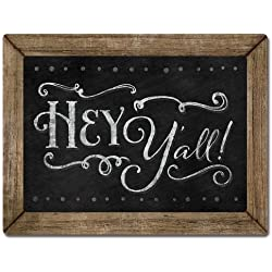 Chalk it Up Wood Sign---HEY Y'ALL---Small Plaque