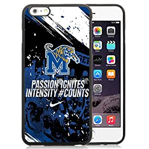 Beautiful And Popular Designed With NCAA American Athletic Conference AAC Football Memphis Tigers 1 Protective Cell Phone Hardshell Cover Case For iPhone 6 Plus 5.5 Inch Black