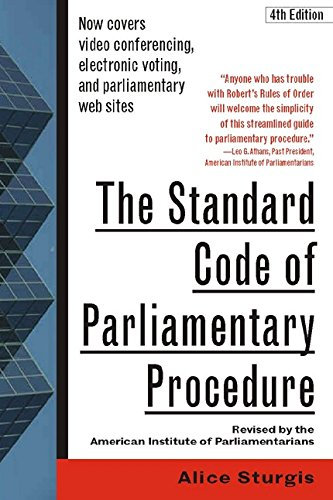 The standard code of parliamentary procedure 4th edition kindle the standard code of parliamentary procedure 4th edition by sturgis alice fandeluxe
