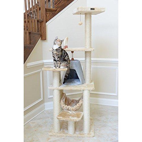Armarkat Cat Tree Pet Multi-level Faux Fur Furniture Condo Scratcher