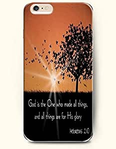 SevenArc Hard Phone Case for Apple iPhone 6 Plus ( iPhone 6 + )( 5.5 inches) - God Is The One Who Made All Things...