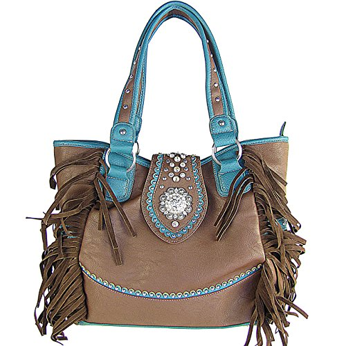 Zebra Print Bucket Bag (Fringe Western Bucket Tote Handbag Brown)