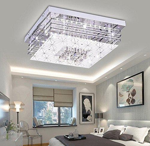 LED K9 Crystal Lampe Wohnzimmer Deckenleuchte, rechteckigen ...