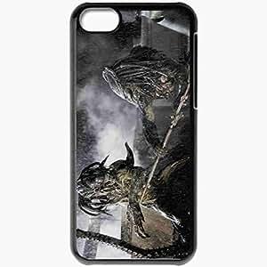 Personalized iPhone 5C Cell phone Case/Cover Skin Aliens Vs Predator Black