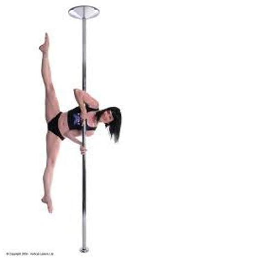 Barra de bailar con modo giratorio y estático X-Pole XPert, incluye gamuza de microfibra (40, 45 o 50 mm)