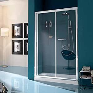 Samo Puerta deslizante 113/120 America Up (b6841l01tr) marco blanco/paneles Cristal Transparente: Amazon.es: Bricolaje y herramientas
