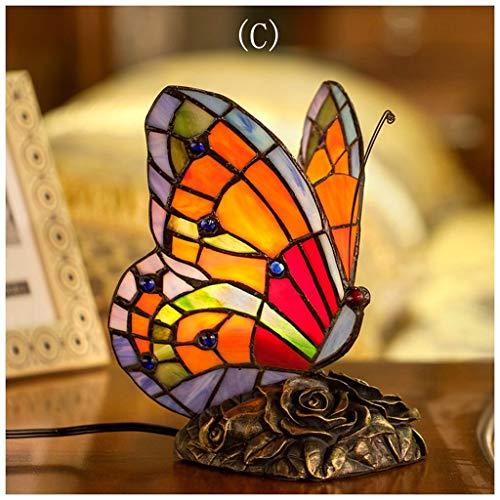 YYF American Butterfly Model Study Desk Lamp - Dream Warm Vintage Romance (Color : C)