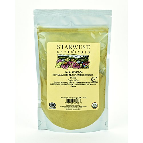 Starwest Botanicals Organic Triphala Powder, 4 Ounces