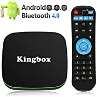 Kingbox Android TV Box, K1 Android 7.1 Box Supporting 4K (60Hz) Full HDMI/H.265 / Bluetooth 4.0 / WiFi 2.4GHz Android Smart TV Box [2018 Version]