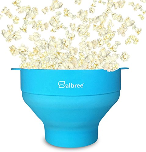 Salbree Collapsible Silicone Microwave Popcorn Popper, Turquoise (Blue Star Oven Parts compare prices)