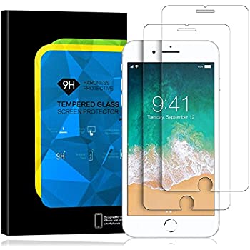 iPhone 8 Screen Protector,iPhone 7 Screen Protector, 2PACK Elinkee Premium Tempered Glass Screen Protector 3D Touch and anti-Fingerprint Clear Screen Protector Glass Film for iPhone 8 iPhone 7