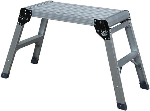 ZfgG Banco del Taburete, Escalera Gruesa Plegable del Banco del Caballo del Caballo del escalón del escalón de Aluminio del hogar (Size : #1): Amazon.es: Hogar