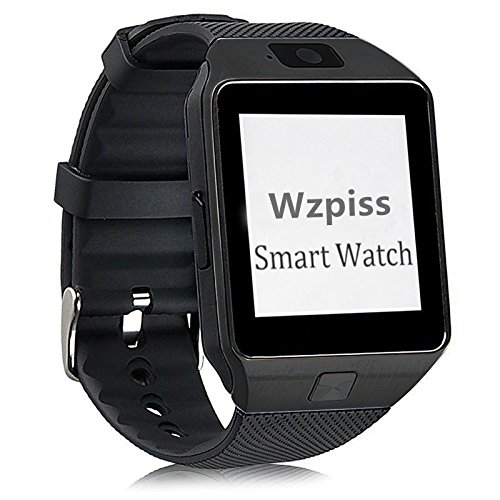 DZ09 Bluetooth Smart Watch - Wzpiss Smartwatch Bracelet with Camera SIM Card TF Slot Pedometer for iPhone IOS Samsung Galaxy Note Nexus HTC LG Sony Android Smartphones (Black)