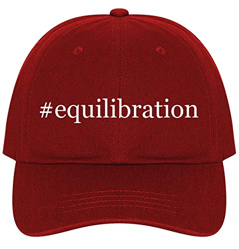 #Equilibration - A Nice Comfortable Adjustable Hashtag Dad Hat Cap, Red, One Size