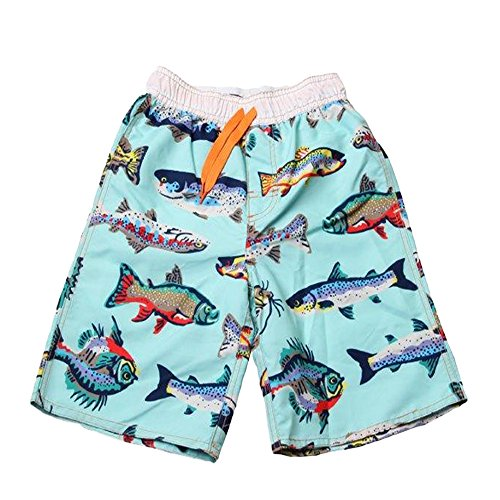 Wes and Willy Little Boys' Fresh Water Fish Trunk in Blue ()