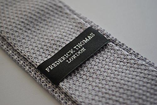 tie spots grey with orange knitted Frederick Thomas wFqaxTY0t